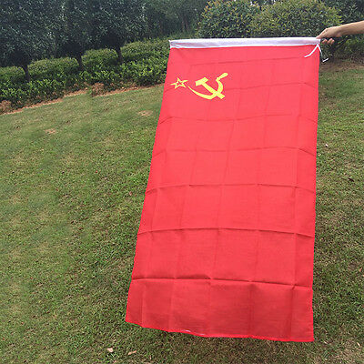 Red CCCP Union of Soviet Socialist Republics 3x5' Ft USSR Flag Russia Banner 4H9