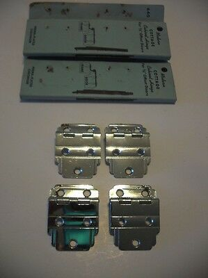 "Vintage NOS CHROME Plated Steel Cabinet HINGES For 3/8"" Offset Doors 2 Pair"