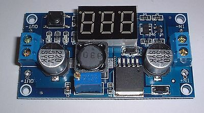 Step Down Adjustable Power Supply Module + display 1 button 1.5V-35V  UK Stock