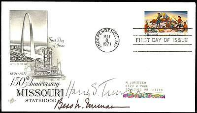 Harry & Bess Truman Signed First Day Cover Xf Cv $925 Hw271
