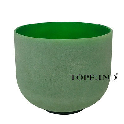 Green F Heart Chakra Frosted Quartz Cystal Singing Bowl 8 inch
