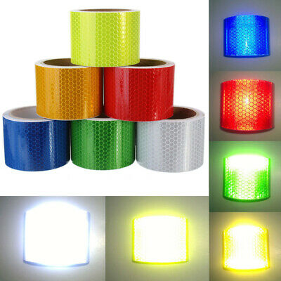 High Intensity Hi Viz Reflective Roll Tape Safety Warning Vinyl Self-Adhesive