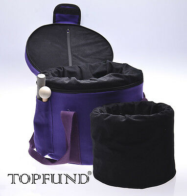 "Crystal Bowl Padded Carrying Cases-Putting 8"" and 10"" Singing Bowl -Purple Color"