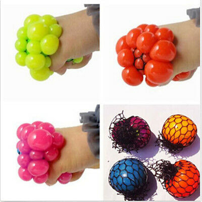Mood Anti Face Relief Autism Squeeze Reliever Toy ADHD Hot Stress Grape Ball