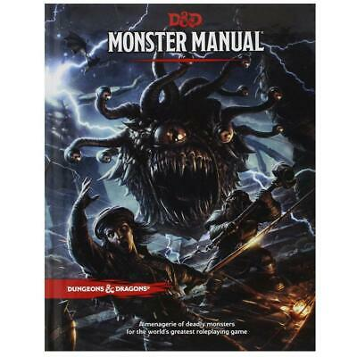 D&D Dungeons & Dragons Monster Manual 5th Edition By Wizard RPG Team