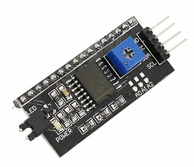 2PCS IIC/I2C/TWI/SPI Serial Interface Board Module Port Arduino 1602LCD Display