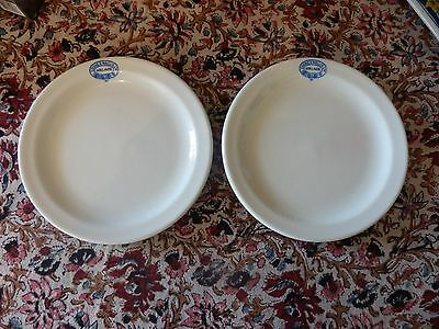 A Pair Of Vintage Catering Side Plates Advertising Cooke & Wallis Ltd Adelaide