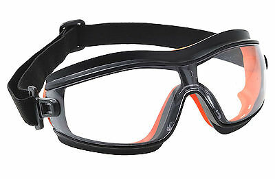 Portwest Slim Safety Goggle Lightweight Soft Seal Eye Protection PW26