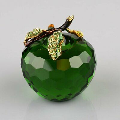 3D Cut Cuttining Crystal Glass Apple Paperweight 40/60mm Home Wedding Decoration
