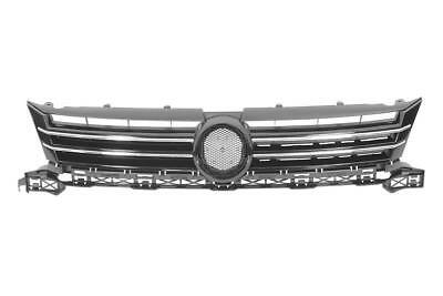Touran 2011 Onwards Grille, Silver, With Chrome Moulding