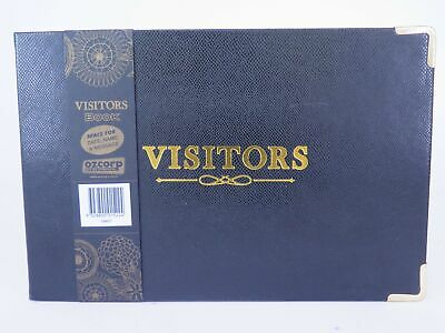BLACK Visitors Book 250 x 160mm 128 Page Ozcorp GBK07*^
