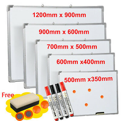 Magnetic Whiteboard Dry Wipe Drawing Office School Kids Notice Hanging Memo New