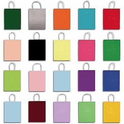 """12 x 8"""" Small Clay Coat Paper Party Supplies Favor Gift Bags with Handle"""