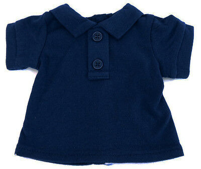 """Navy Blue Cotton Shirt With Buttons Fits American Girl Doll Boy Logan  18/"""""""