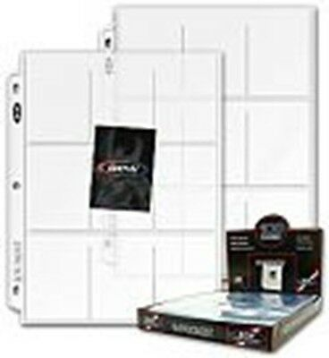 Economy Vinyl Pages --9 Trading Card Pockets  Pack of 10 Sheets