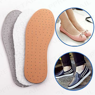 4 x COMFORTABLE INNER SOLES Leather/Fleece/Anti Odour Foot Shoe Support Footwear