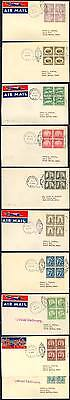 #692-701 Blocks Of 4 On Airmail Covers 1931 Wlm461