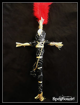 """SPELL-INFUSED Authentic 17"""" Witches Essential WITCH DOLL Coven MADE Voodoo RELIC"""