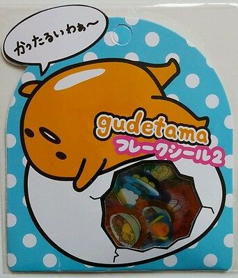 Sanrio Gudetama Egg Sticker Sack Pack flakes Japan New