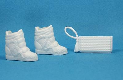 Barbie White High Top Sneakers Tennis Shoes Clutch Purse