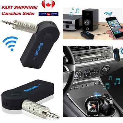 NEW Bluetooth Wireless Audio Receiver 3.5mm for Car Stereo Music Dongle Adapter