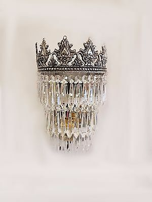 Gorgeous Vintage/French Style Crystal Glass Wall Lights WL00-3S
