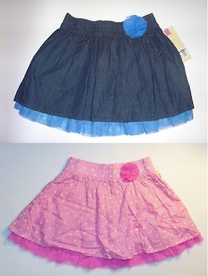 Cherokee Girls Skirts Tulle Hem Blue or Pink Size Small 6-6X NWT