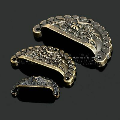 4X Vintage Bronze Dragon Type Dresser Cabinet Drawer Shell Knob Pull Handle Cup