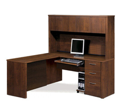 Bestar Embassy L-shaped workstation kit in Tuscany Brown finish 60865-63 New
