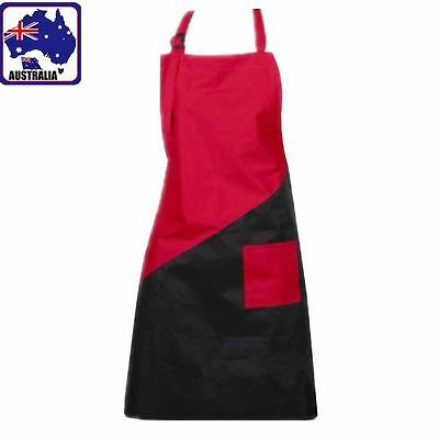 Pro Salon Hair Hairdressing Cutting Apron Cape for Barber Hairstylist Black+Red