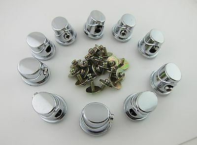 10 Single Ended Tom / Bass Drum Lugs with Mounting Screws for 7~11mm Drum Shell
