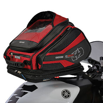 Oxford Q30R Quick Release Motorcycle Motorbike Luggage Tank Bag Red