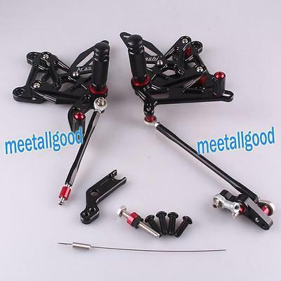 Motorcycle Rearsets Rear set Foot pegs For MV AGUSTA F3(800) 12 13 14 15 Black