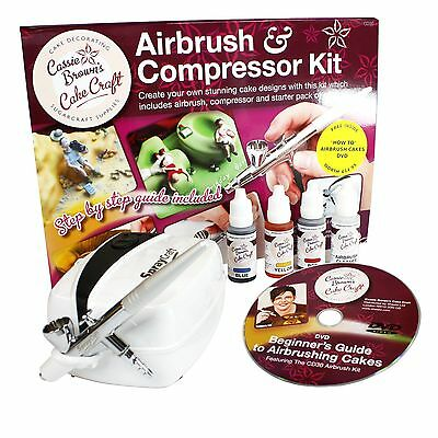 Cassie Brown Cake Craft Cake Decorating Airbrush and  Compressor Kit