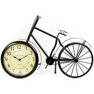 50Cm Retro Vintage Metal Bicycle Clock Home Decoration Table Ornament Office New