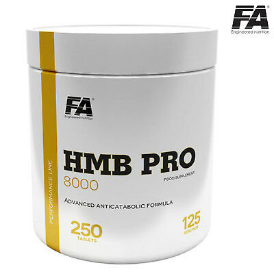 HMB PRO 8000 250Tablets - 125 Servings Lean Mass Builder Ripped Muscle Growth