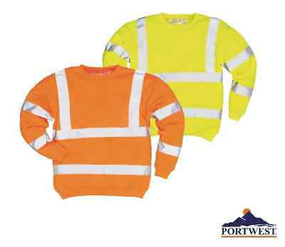 Sweatshirt High Visibility Work Safety Reflective ANSI Class 3, Portwest UB303
