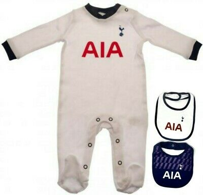 2018 Tottenham Hotspur Fc Spurs Babies Pram Sleep Play Suit Baby Grow Bodysuit