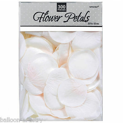 300 Piece White Wedding Fabric Rose Flower Petals Party Favours Sprinkles Pack
