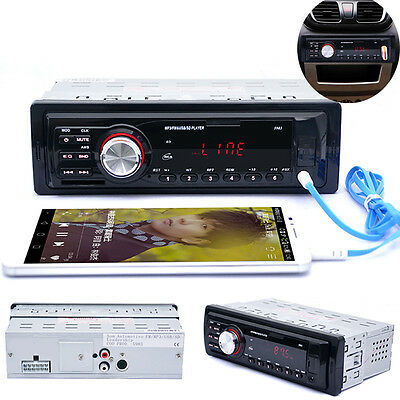 Car Audio Stereo In Dash FM Aux Input Receiver w/ SD USB MP3 Radio Player WT