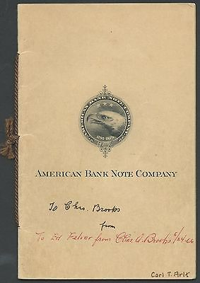 AMERICAN BANK NOTE Co. ESSAY SAMPLE BOOK WITH (7) DIFF. ESSAYS HW291