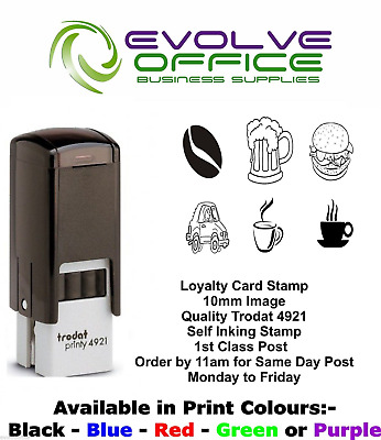 Loyalty Card Rubber Stamp 10mm Various Images Ready Made 1st Class Post TRODAT