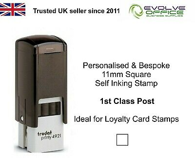 11mm Custom Rubber Stamp Self Inking - Personalised with your Logo & Text TRODAT