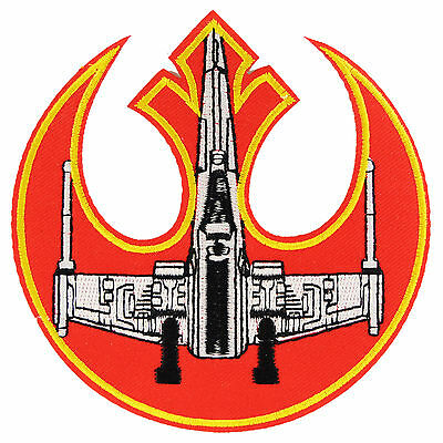 Star Wars X Wing Patch Iron On Sew Emblem Rebel Embroidered