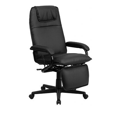 Flash Furniture High Back Black Leather Executive Reclining Office Chair NEW