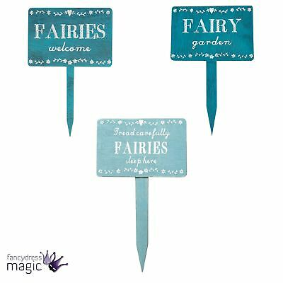 Sass And Belle Shabby Chic Fairy Fairies Secret Garden Wooden Plaque Stake Sign