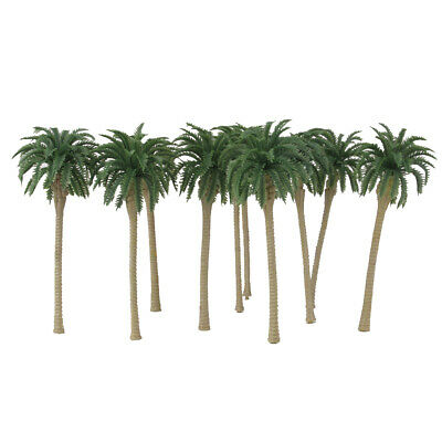 10pcs Diorama Wargame Beach Layout Model Train Coconut Palm Trees HO OO 16CM