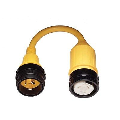 Marinco 117A Pigtail Adapter 50A Locking To 30A Locking