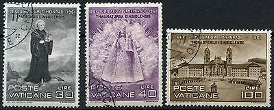 Vatican City 1961 SG#340-2 St. Meinrad Cto Used Set  #D14945