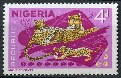 Nigeria 1965-6 SG#177a 4d Leopards Definitive P14x13.5 MNH #D19235